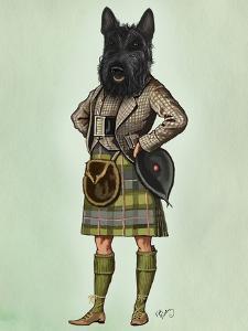 Scottish Terrier in Kilt by Fab Funky