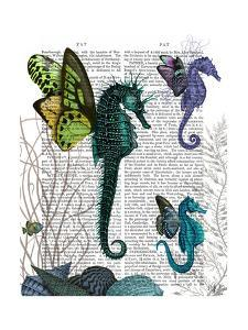 Seahorse Trio With Wings by Fab Funky