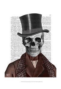 Skeleton Gentleman and Top hat by Fab Funky