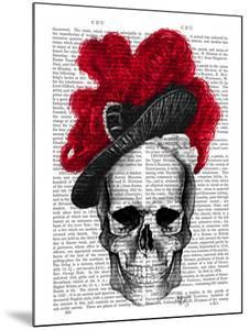 Skull with Red Hat by Fab Funky