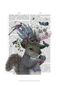 Squirrel Birdkeeper and Blue Acorns by Fab Funky