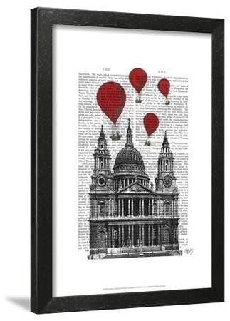 St Pauls Cathedral and Red Hot Air Balloons by Fab Funky