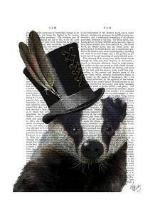 Steampunk Badger in Top Hat by Fab Funky