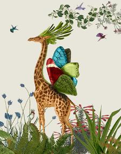 Tropical Giraffe 3 by Fab Funky
