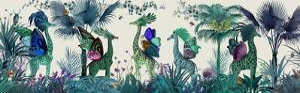Tropical Giraffes, Blue by Fab Funky