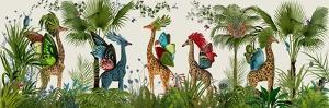Tropical Giraffes, Bright by Fab Funky