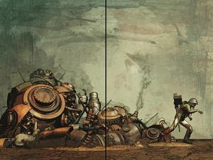 Zombies vs. Robots: Undercity - Page Spread by Fabio Listrani