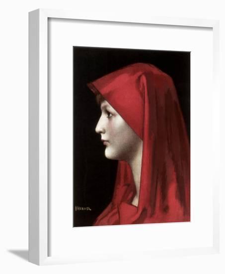 Fabiola, 1885-Jean Jacques Henner-Framed Giclee Print