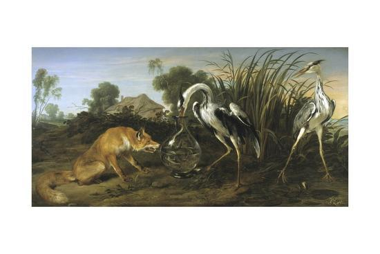 Fable of the Fox and the Heron-Frans Snyders-Giclee Print
