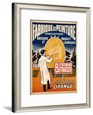 Fabrique de Peinture (c.1925)--Framed Collectable Print