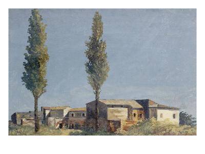 Fabriques à la villa Farnèse : les deux peupliers-Pierre Henri de Valenciennes-Giclee Print
