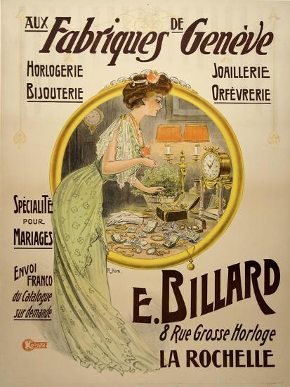 Fabriques Geneve--Giclee Print