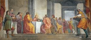 Last Supper with Portraits of Lionardo Conti and His Nephew by Fabrizio Boschi