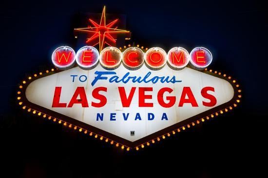 Fabulous Las Vegas Sign-Steve Gadomski-Photographic Print