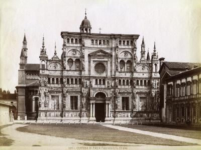 Facade, Church of the Certosa Di Pavia (Charterhouse of Pavi) Lombardy, Northern Italy, 1890--Giclee Print