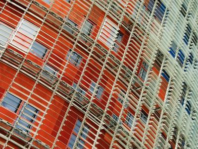 Facade Detail of the Torre Agbar, Barcelona, Catalonia, Spain-Krzysztof Dydynski-Photographic Print
