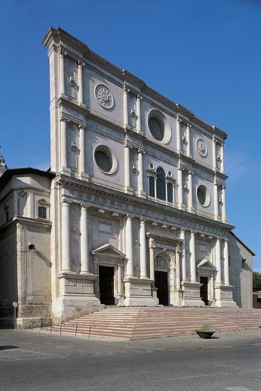 Facade of a Basilica, Basilica Did San Bernardino, L'Aquila, Abruzzi, Italy--Photographic Print