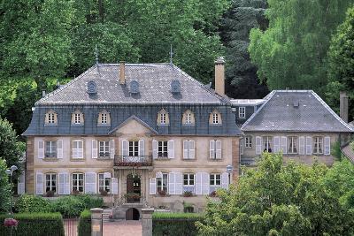 Facade of a Building, Hombourg-Haut, Lorraine, France--Photographic Print