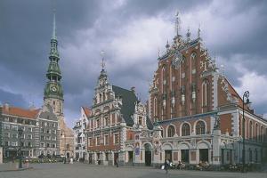 Facade of a Building, House of Blackheads, Riga, Latvia