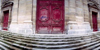 Facade of a Building, Paris, Ile-De-France, France