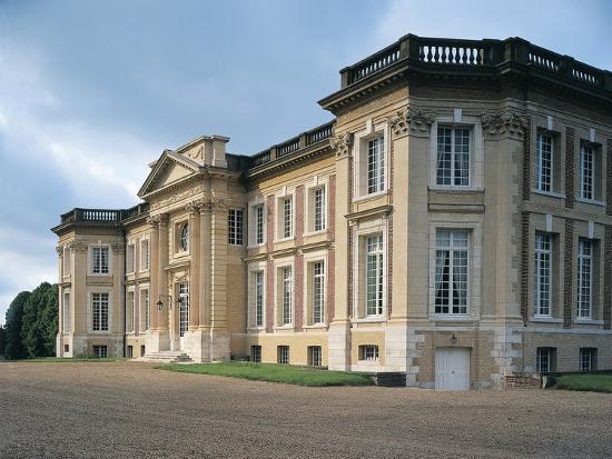 Facade of a Castle, Belbeuf, Haute-Normandy, France--Photographic Print