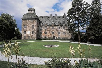 Facade of a Castle, Conros Castle, Auvergne, France--Photographic Print