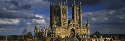 Facade of a Cathedral, Lincoln Cathedral, Lincoln, Lincolnshire, England--Photographic Print