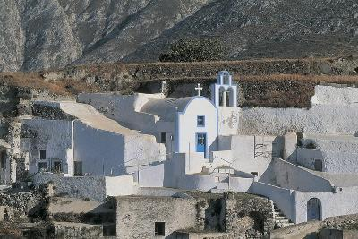 Facade of a Church, Episkopi, Santorini, Cyclades Islands, Southern Aegean, Greece--Photographic Print