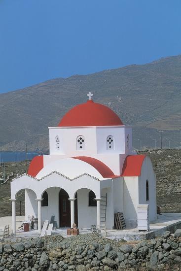 Facade of a Church, Mykonos, Cyclades Islands, Greece--Photographic Print