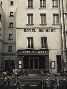 Facade of a Hotel, Hotel Du Nord, Canal Saint-Martin, Paris, Ile-De-France, France