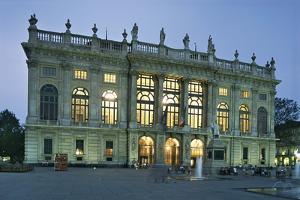 Facade of a Palace, Madama Palace, Turin, Piedmont, Italy