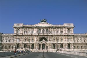 Facade of a Palace, Palace of Justice, Rome, Lazio, Italy