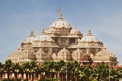 Facade of a Temple, Akshardham, Delhi, India-jackmicro-Photographic Print