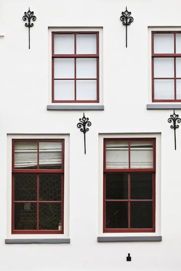 Facade of a Traditional Town House in Utrecht, Netherlands-Julian Castle-Photo