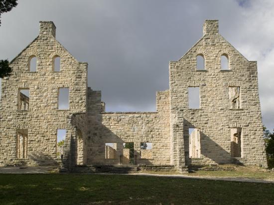 Facade of an Old Building, Ha-Ha-Tonka Castle, Ha-Ha-Tonka State Park, Camdenton, Missouri, USA--Photographic Print
