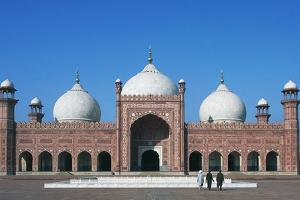 Facade of Badshahi Mosque, Lahore, Punjab, Pakistan, 17th Century