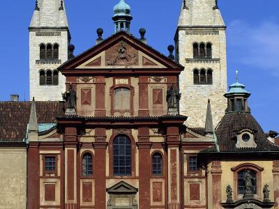 Facade of Basilica of St. George, Prague Castle, Bohemia, Czech Republic--Giclee Print