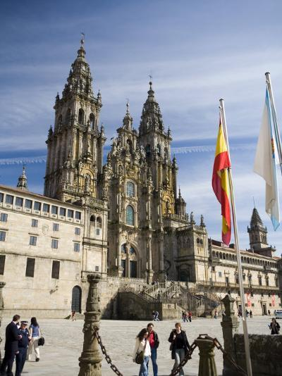 Facade of Cathedral Seen from Praza Do Obradoiro, Santiago De Compostela, Galicia-Nick Servian-Photographic Print