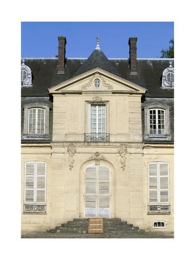Facade of Chateau De Jossigny, Ile-De-France, Detail, France--Giclee Print