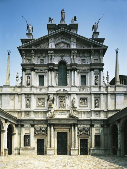 Facade of Church of Santa Maria Presso San Celso-Galeazzo Alessi-Giclee Print