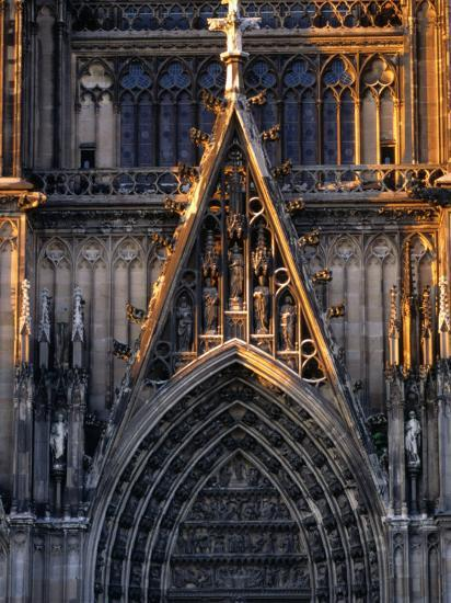 Facade of Cologne Cathedral, Cologne, Germany-Rick Gerharter-Photographic Print