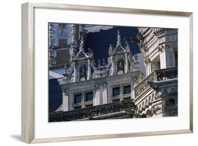 Facade of Courtyard Side of Francis I Wing, Royal Chateau De Blois, France, 16th Century--Framed Giclee Print