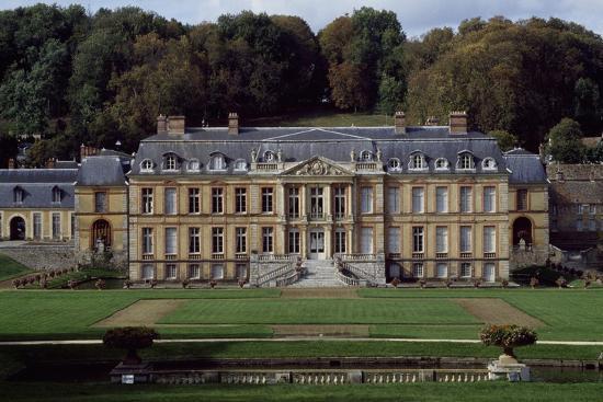 Facade of Dampierre Castle-Jules Hardouin Mansart-Giclee Print