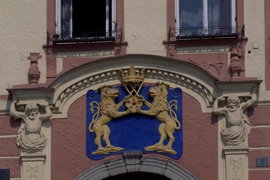 Facade of Jindrichuv Hradec's Old Town Hall, Bohemia, Detail, Czech Republic--Giclee Print