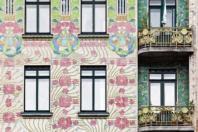 Facade of Jugendstil Style Majolikahaus (Majolica) House at No-Julian Castle-Photo