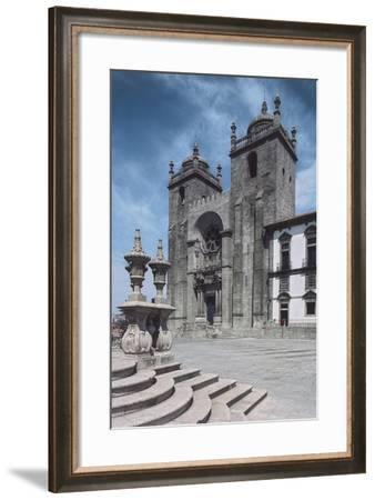 Facade of Porto Cathedral--Framed Giclee Print