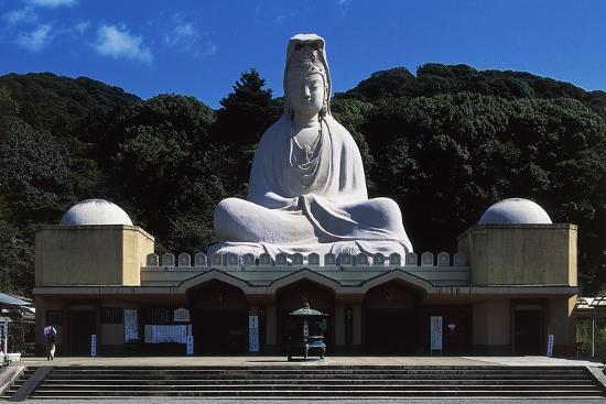 Facade of Ryozen Kannon Buddhist Temple, Kyoto, Kansai, Japan.--Giclee Print