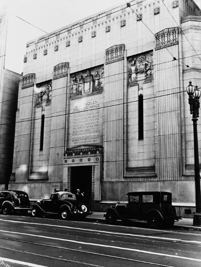 Facade of the Los Angeles Stock Exchange--Photographic Print