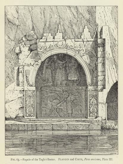 Facade of the Tagh-I-Bostan--Giclee Print