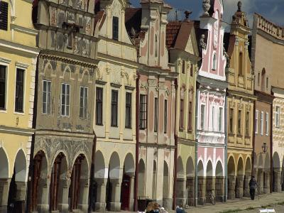 Facades on the 16th Century Town Square in the Town of Telc, South Moravia, Czech Republic-Strachan James-Photographic Print